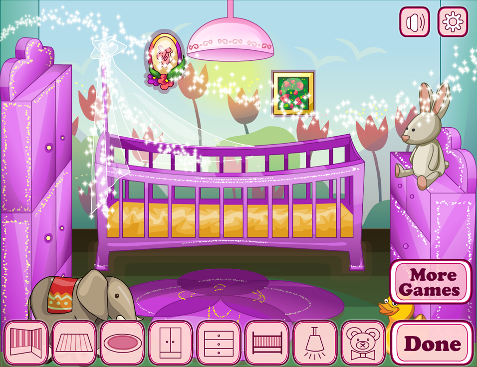 Baby house decor girl games android apps on google play for Baby room decoration games free online