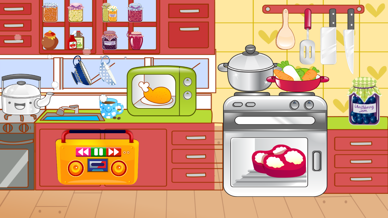 Kids Kitchen Free Cooking Game