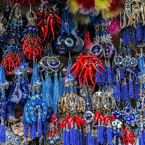 Colors from the street market of Bachkovo, Bulgaria by Kiril Krastev - City,  Street & Park  Markets & Shops ( plovdiv, canon, market, blue, 70d, colors, street, handmade, object, bachkovo, bulgaria, color, landscape, portrait, filter forge )