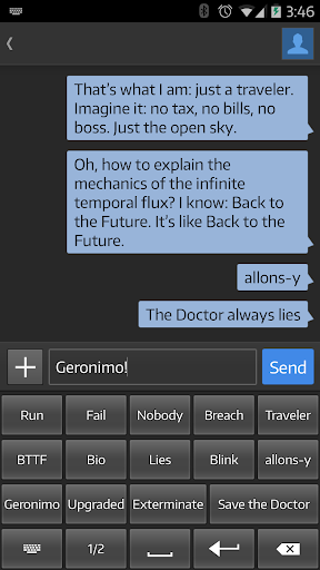 Quote Keyboard: Whovian