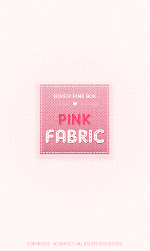PINK FABRIC go launcher theme