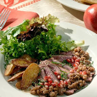 Duck Breasts with Pomegranate-Walnut Sauce.
