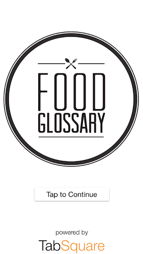 Food Glossary