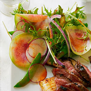 Summer Radish Salad with Sweet Chili Vinaigrette.