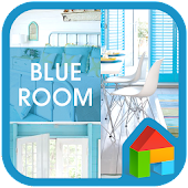 blue room dodol launcher theme