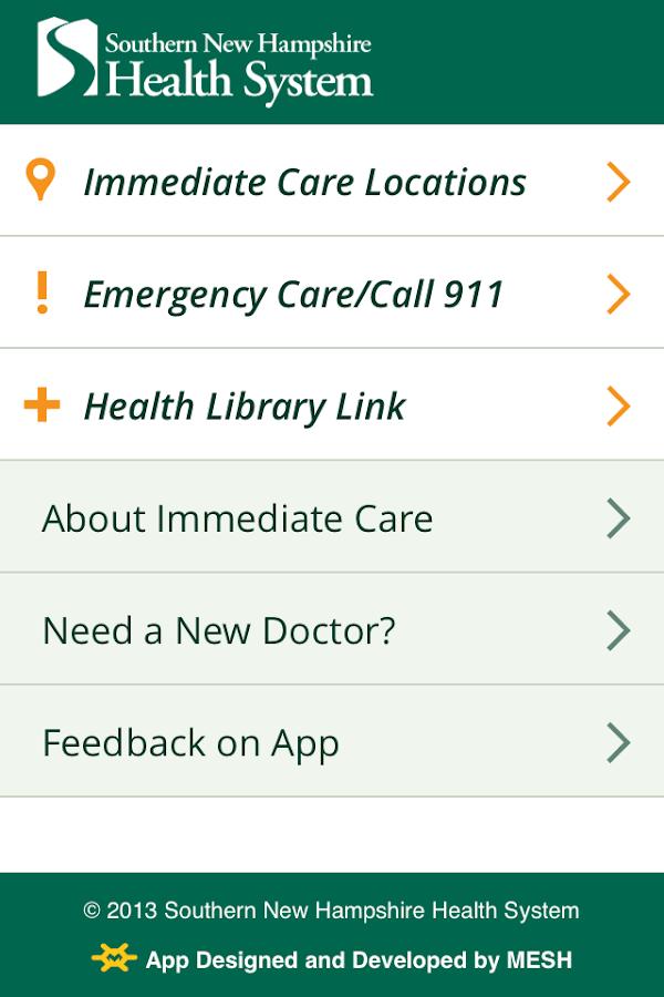 Immediate Care - screenshot