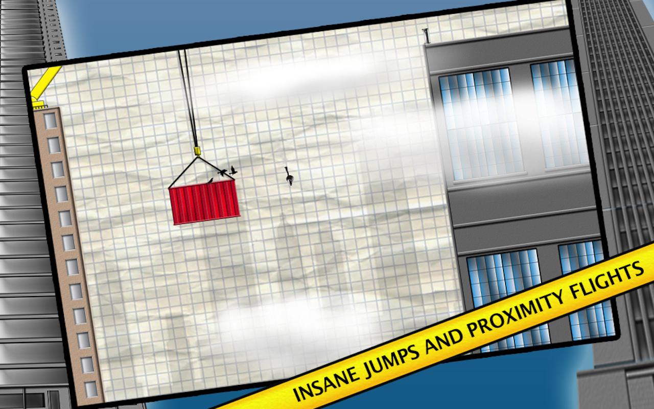 Stickman Base Jumper - screenshot