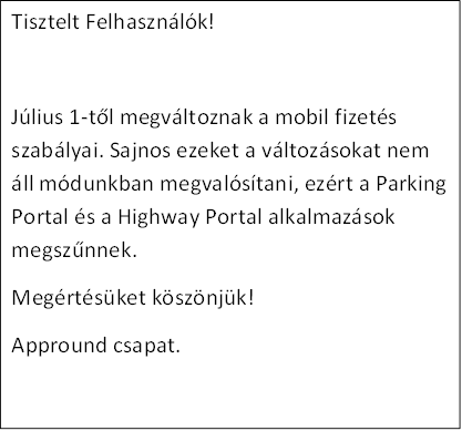 Parking Portal megszűnt!!!- screenshot