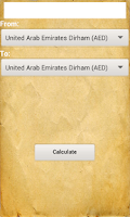 Screenshot of Unit and Currency Converter