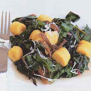Butternut Squash Gnocchi with Duck Confit and Swiss Chard