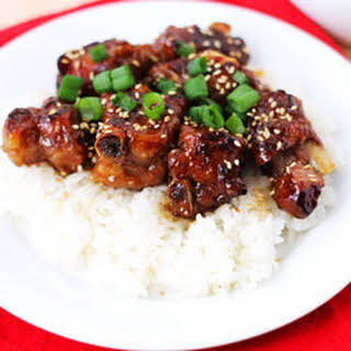 Chinese BBQ pork ribs.