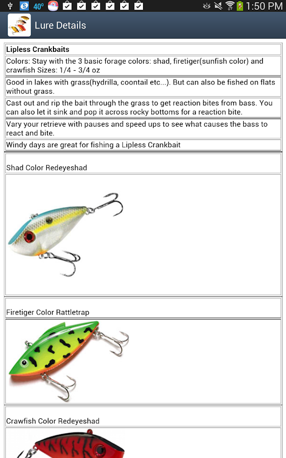 Bass Lure Expert- screenshot