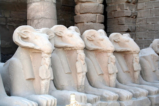 Your kids will feel as if they're on an Indiana Jones adventure if you take them on a shore excursion to see the ram statues at Karnak Temple in Luxor, Egypt, as part of a cruise aboard Uniworld's River Tosca.