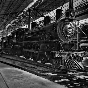 Traveling into the Past by Troy Snider - Transportation Trains ( train tracks, train engine, railroad, train, old engine, antique )