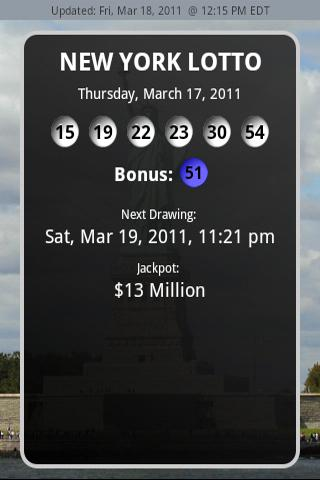 New York Lottery Results - screenshot