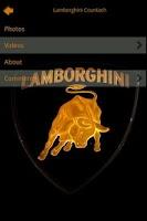 Screenshot of Lamborghini Encyclopedia
