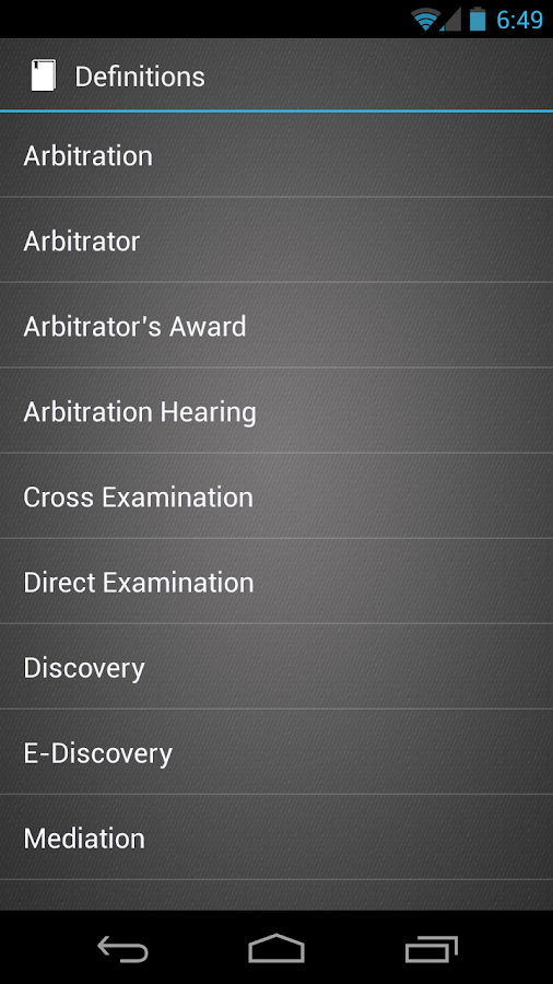 Arbitration - screenshot