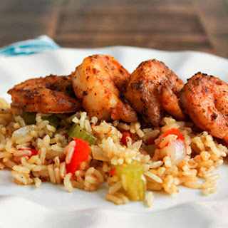 Blackened Shrimp with Cajun Rice