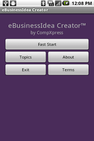 eBusinessIdea Creator- screenshot