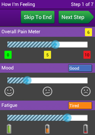 FibroMapp - for Health Rising - screenshot