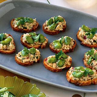 Tuna and Fava Crostini Recipe