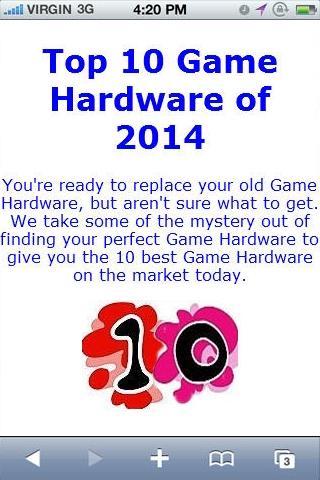 Game Hardware Reviews