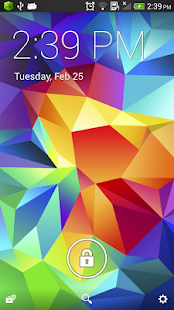 Galaxy S5 lock screen