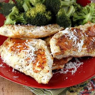 Parmesan- Crusted Chicken.
