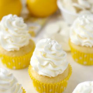 Lemon White Chocolate Cupcakes.