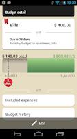 Screenshot of Toshl Finance Budget & Expense