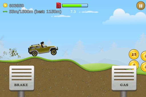 Android/PC/Windows用Up Hill Racing: Car Climb ゲーム (apk)無料ダウンロード screenshot