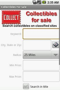 Collectibles For Sale - screenshot thumbnail