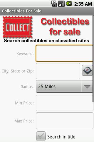 Collectibles For Sale - screenshot