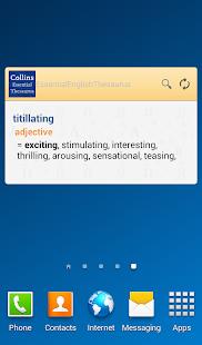 Collins Essential Thesaurus TR - screenshot thumbnail