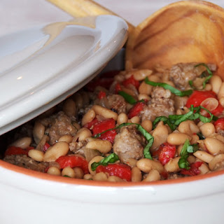 Italian White Bean salad with Sausage