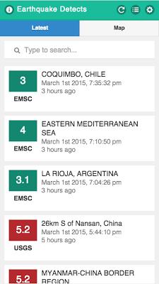 Earthquake Detects - screenshot