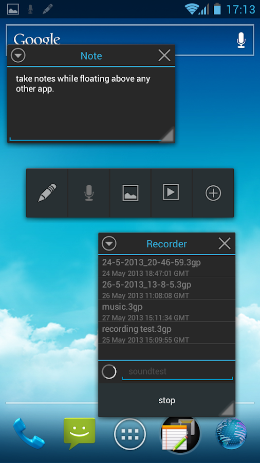 Tiny Apps lite (floating) - screenshot