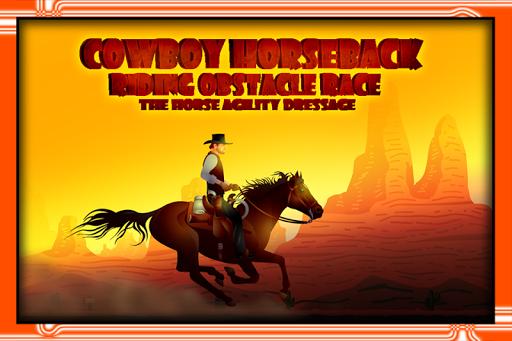 Cowboy Horseback Riding Race