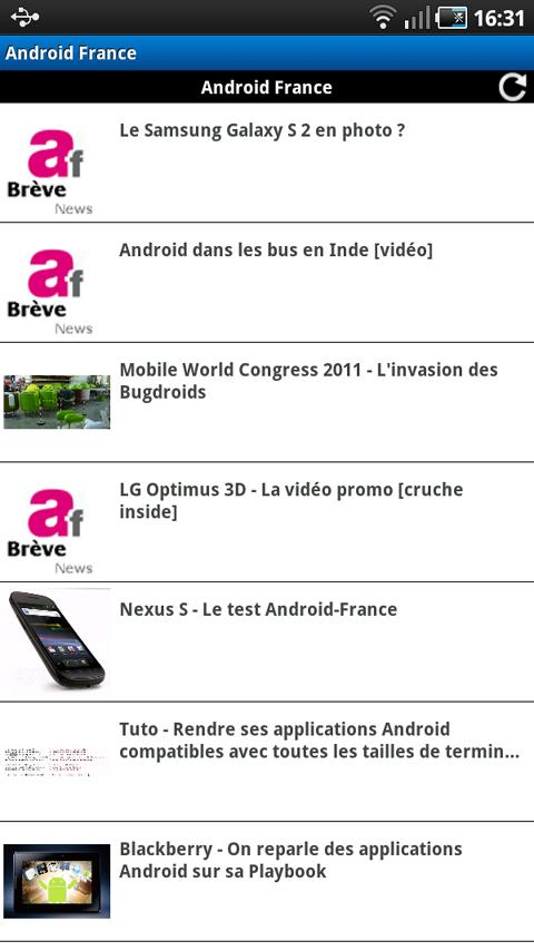 Android France [Android 1.x]] - screenshot