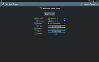 Screenshot of Network Tester