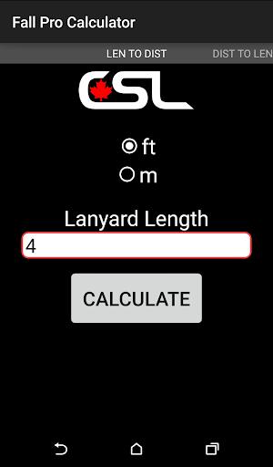 Fall Protection Calculator