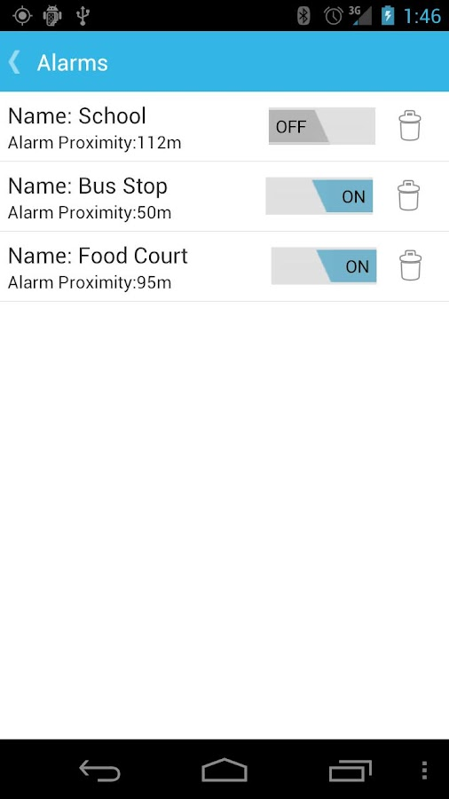 GPS Alarm - screenshot