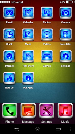 Blue iOS 7 Theme Launcher 3D