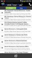 Screenshot of Mobile Ticket App - Tickets