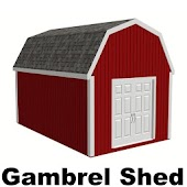 12 x 20 Gambrel Shed Plans
