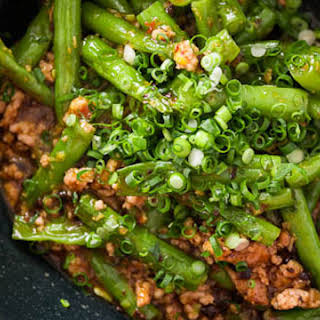 Green Beans with Garlic Black Bean Sauce.