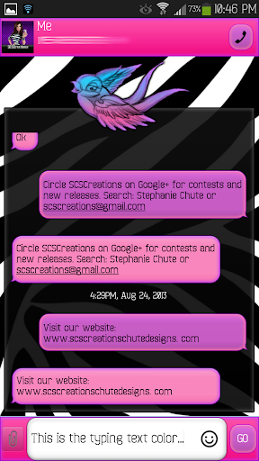GO SMS - Precious Bird