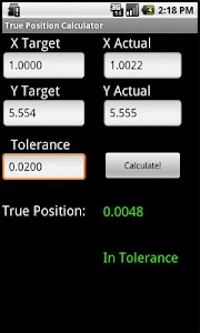 True Position Calculator screenshot 0