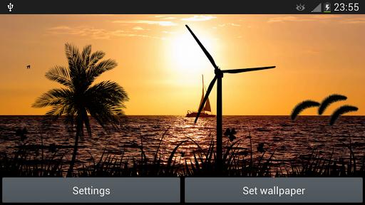 玩個人化App|夕陽風車動態壁紙免費|APP試玩