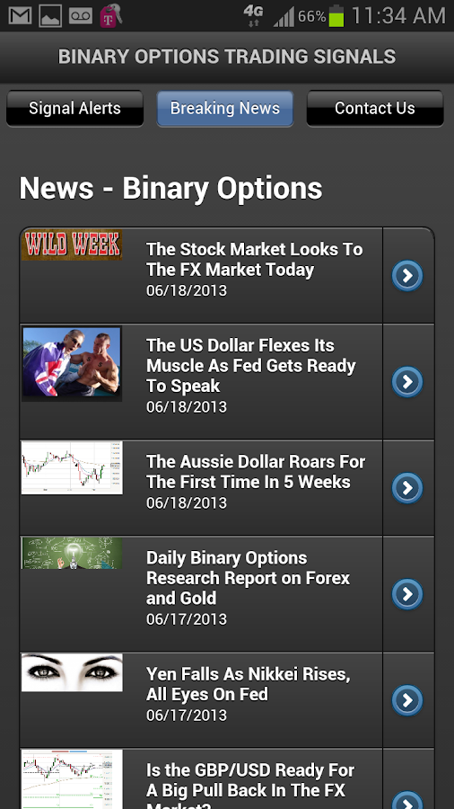 Binary Options Signals - screenshot